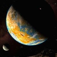 Gliese 581-g podría ser muy parecida a la Tierra como vemos en este dibujo