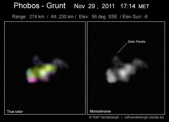 Phobos-Grunt en el espacio