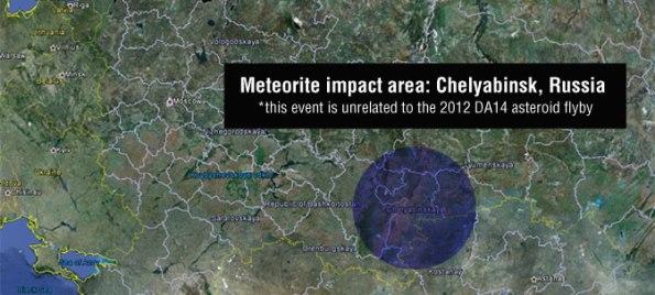 Zona de caída del Meteorito de Chelybisnk