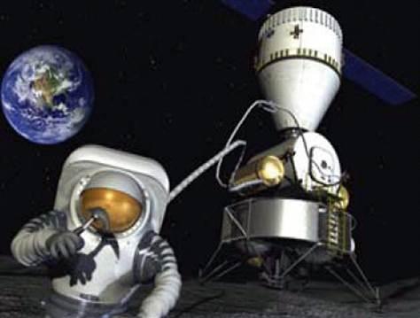 asteroide con astronauta