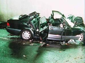 Así quedó el coche en el que falleció Lady Di
