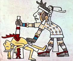 En la América precolombina eran habituales los rituales en los que se incluían sacrificios humanos.