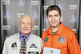 Lurueña y Aldrin, el segundo hombre que pisó la Luna.